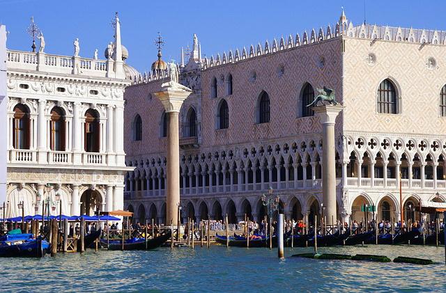 Достопримечательности Италии: вид на Дворец Дожей