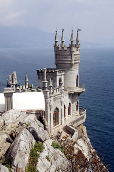 Замок Ласточкино Гнездо в Гаспре (Крым)
