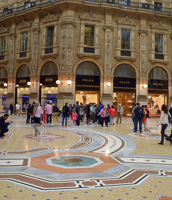 Милан: торговая галерея